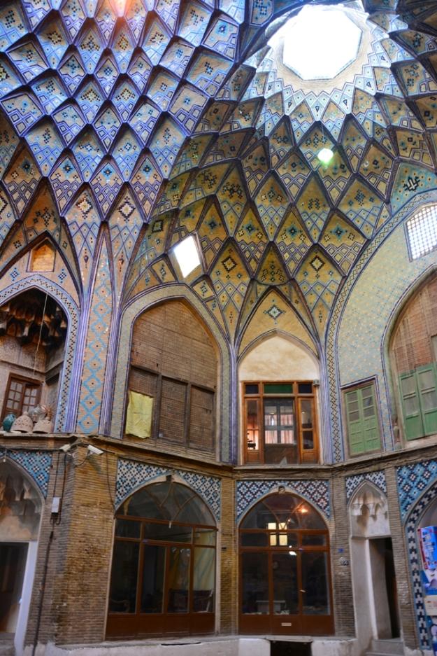 Interiér Kashanského bazaru