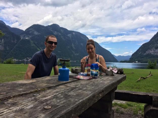Velmi příjemné setkání (naprosto náhodný) s kamarádem z naší vesnice Vaškem a jeho přítelkyní Olčou. Nedaleko se nastěhovali a v létě 2017 je navštívíme :)